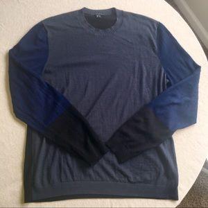Theory Colorblock Merino Wool Sweater